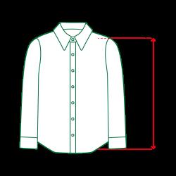 シャツ袖丈