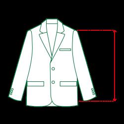 ジャケット袖丈